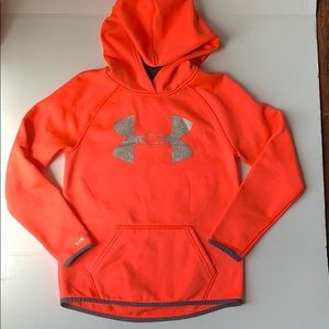 Under Armour orange hoodie youth small